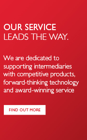 Our service leads the way. We are dedicated to supporting intermediaries with competitive products, forward-thinking technology and award-winning service. Find out more. / Our service leads the way. We are dedicated to supporting intermediaries with competitive products, forward-thinking technology and award-winning service. Find out more.